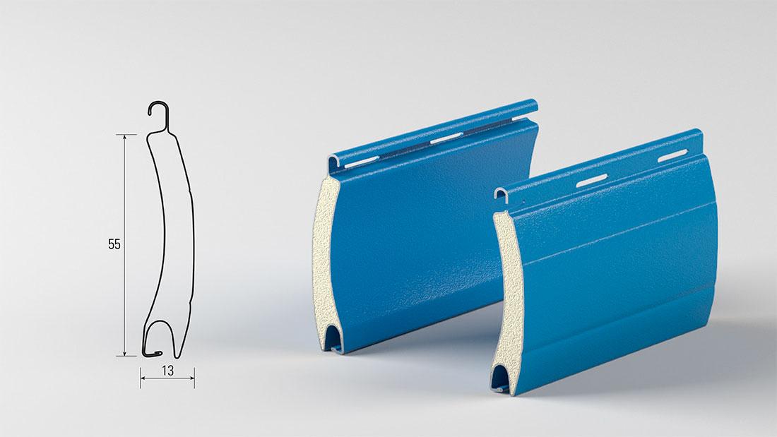 Tapparelle in acciaio coibentato - modello 13x55 mm