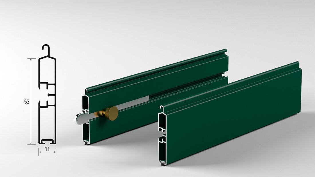 Balza per tapparella in alluminio con catenaccio